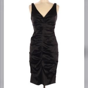 Xscape by Joanna Chen Black Ruched Bodycon Dress